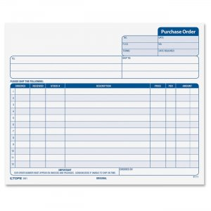 TOPS 3821 Carbonless Purchase Order Forms TOP3821