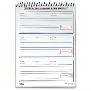 TOPS 44169 Message Log Book TOP44169