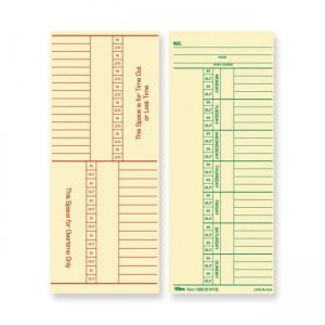 TOPS 12603 Named Days/Overtime Time Card TOP12603