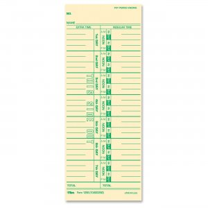 TOPS 12563 Weekly Time Card TOP12563