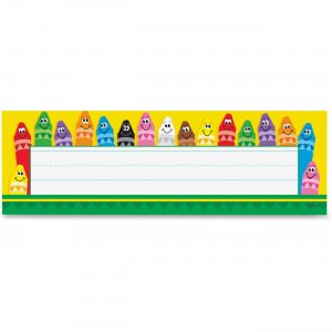 TREND 69013 Colorful Crayons Name Plates
