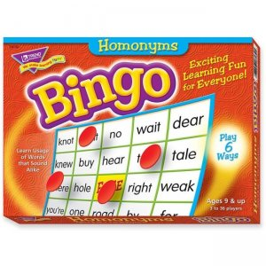 TREND 6132 Homonyms Bingo Game