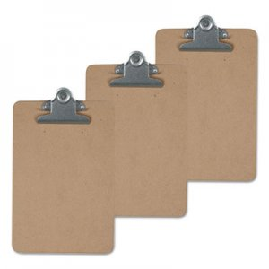 "Genpak UNV40305VP Hardboard Clipboard, 1"" Capacity, Holds 8 1/2 x 14, Brown, 3/Pk"