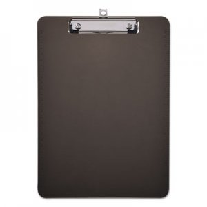 "Genpak UNV40311 Plastic Clipboard with Low Profile Clip, 1/2"" Cap, 8 1/2 x 11, Translucent Black"