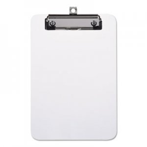 "Genpak UNV40312 Plastic Clipboard with Low Profile Clip, 1/2"" Capacity, Holds 5 x 8, Clear"