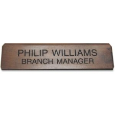 Xstamper K83 Engraved Walnut Desk Sign XSTK83