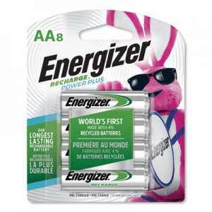 Energizer EVENH15BP8 NiMH Rechargeable AA Batteries, 1.2V, 8/Pack