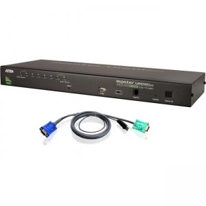 Aten CS1708AUKIT 8-Port Combo (USB-PS/2) KVMP with 8-USB Cables