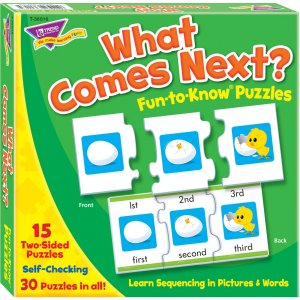 TREND T-36016 What Comes Next Fun-to-Know Puzzles TEP36016
