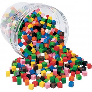 Learning Resources LER2089 Centimeter Cubes, Set of 1000 LRNLER2089