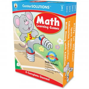 CenterSOLUTIONS 140051 Math Learning Games Board Game CDP140051
