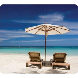 Fellowes 5909501 Earth Series Mouse Pad Beach Chairs