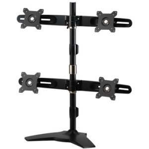 "Amer Mounts AMR4SU Stand Based Quad Monitor Mount. Up to 24"", 17.6lb monitors"