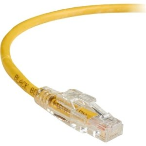 Black Box C6PC70-YL-20 GigaTrue 3 CAT6 550-MHz Lockable Patch Cable (UTP), Yellow, 20-ft. (6.0-m