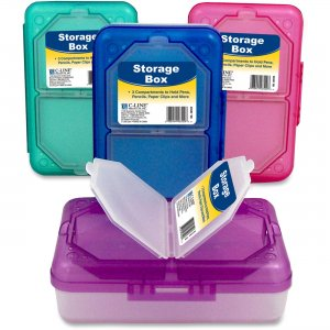 C-Line 48500 Storage Box, Assorted, 1 Box (Color May Vary) CLI48500