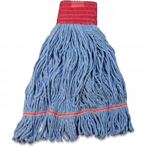 Impact Products L270LGCT Cotton/Synthetic Blend Saddle-Type Looped-End Wet Mop with Tailband IMPL270LGCT