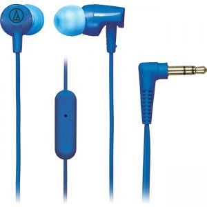 Audio-Technica ATH-CLR100ISBL SonicFuel In-ear Headphones with In-line Mic & Control