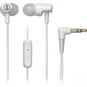 Audio-Technica ATH-CLR100ISWH SonicFuel In-ear Headphones with In-line Mic & Control