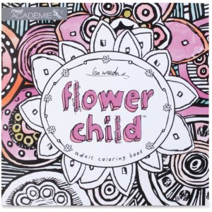 Mead 54008 Flower Child Adult Coloring Book MEA54008