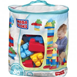 Mega Bloks DCH63 First Builders Big Building Bag, 80-Piece (Classic) MBLDCH63