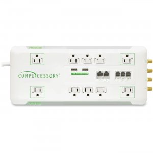 Compucessory 31900 10-Outlet Surge Suppressor/Protector CCS31900