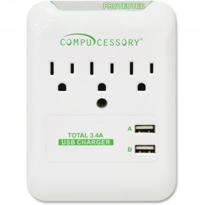 Compucessory 51550 3-Outlet Surge Suppressor/Protector CCS51550