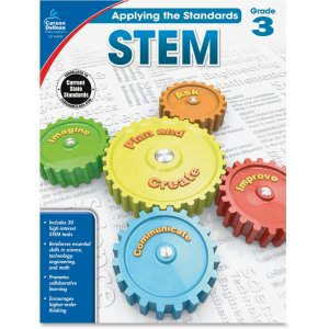Carson-Dellosa 104854 Grade 3 Applying the Standards STEM Workbook CDP104854