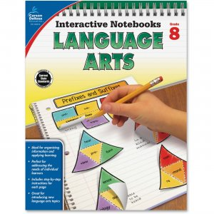 Carson-Dellosa 104915 Grade 8 Language Arts Interactive Notebook CDP104915