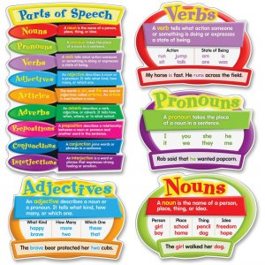 Carson-Dellosa 110126 Parts of Speech Bulletin Board Set CDP110126