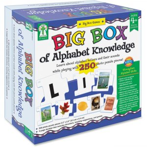 Carson-Dellosa 840015 Big Box of Alphabet Knowledge Board Game CDP840015