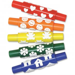 Pacon AC9084 Set A Foam Pattern Rolling Pins PACAC9084