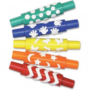 Pacon AC9085 Set A Foam Pattern Rolling Pins PACAC9085
