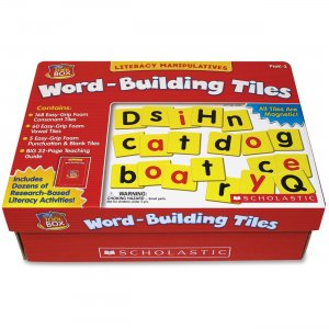 Scholastic 0439838657 Pre K-2 Word-building Tiles Tool Box SHS0439838657