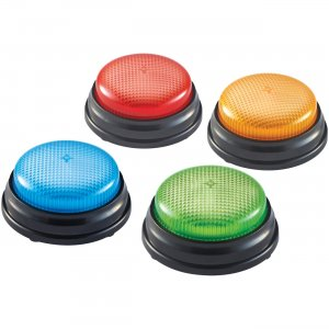 Learning Resources LER3776 Lights & Sounds Buzzers , Set of 4 LRNLER3776