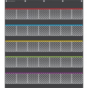 Teacher Created Resources 20750 Black Polka Dots Storage Pocket Chart TCR20750