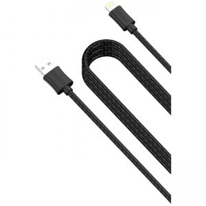 Cygnett CY2029PCCSL Source Lightning Charge & Sync Braided Cable - Black