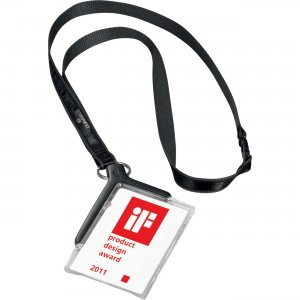 Durable 820758 Card Holder Deluxe w/Lanyard DBL820758