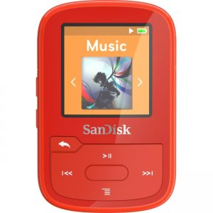 SanDisk SDMX28-016G-A46R Clip Sport Plus 16GB Flash MP3 Player