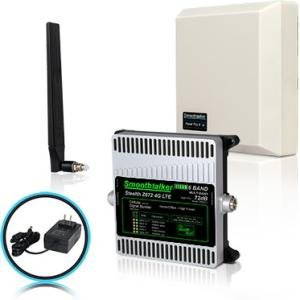 Smoothtalker BBUZ672GBP Stealth Z672dB 4G LTE High Power 6 Band Cellular Signal Booster Kit