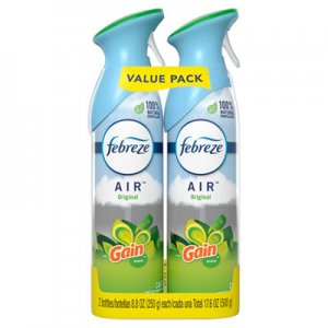 Febreze PGC97810 AIR, Gain Original, 8.8 oz Aerosol, 2/Pack, 6 Pack/Carton