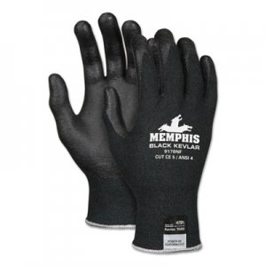MCR Safety CRW9178NFXL Kevlar Gloves 9178NF, Kevlar/Nitrile Foam, Black, X-Large