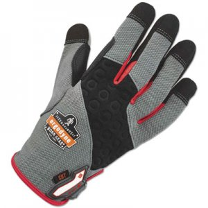 Ergodyne EGO17124 ProFlex 710CR Heavy-Duty + Cut Resistance Gloves, Gray, Large, 1 Pair