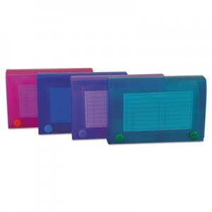 C-Line CLI58435 Index Card Case, Holds 100 3 x 5 Cards, Polypropylene, Assorted Colors