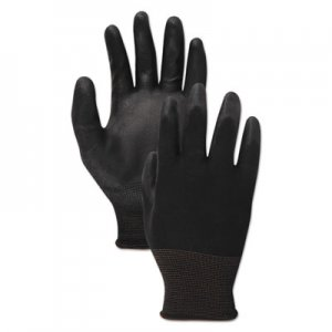 Boardwalk BWK000289 PU Palm Coated Gloves, Black, Size 9 (Large), 1 Dozen