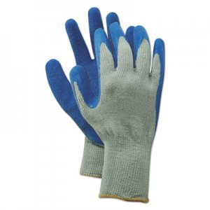 Boardwalk BWK00027L Rubber Palm Gloves, Gray/Blue, Large, 1 Dozen
