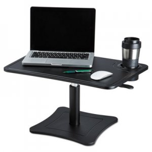 Victor VCTDC240B High Rise Adjustable Laptop Stand w/Storage Cup, 21 x 13 x 15 3/4, Black