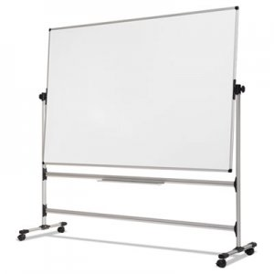 MasterVision BVCRQR0221 Earth Silver Easy Clean Revolver Dry Erase Board, 36 x 48, White, Steel Frame