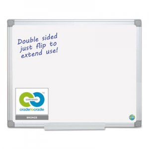 MasterVision BVCMA2100790 Earth Silver Easy Clean Dry Erase Boards, 48 x 96, White, Aluminum Frame