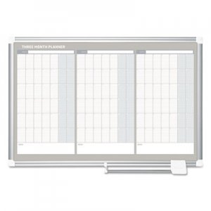 MasterVision BVCGA03204830 Magnetic Dry Erase Calendar Board, 36 x 24, Silver Aluminum Frame