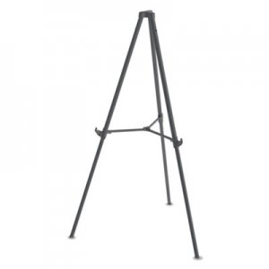 "MasterVision BVCFLX11404 Quantum Heavy Duty Display Easel, 35.62"" - 61.22""H, Plastic, Black"